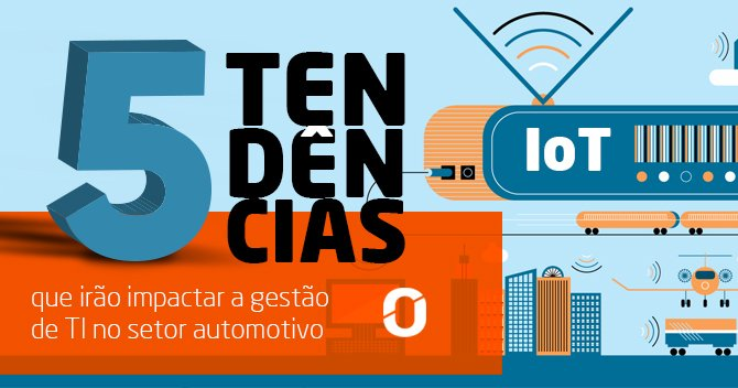 """Desenho de um rádio e uma cidade e a escrita """" 5 tendências que irão impactar a gestão de TI no setor automotivo"""""""