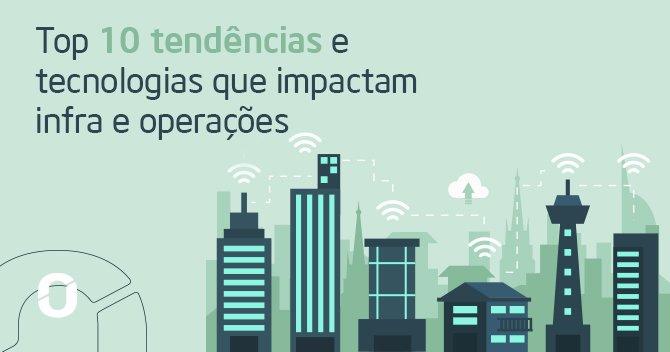 """Desenho de uma cidade e a escrita """" Top 10 tendencias e tecnologias que impactam infra e perações"""" Gartner"""