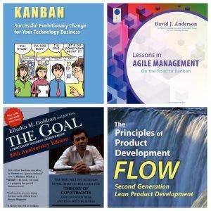 Capa de quatro Livros sobre Kanban