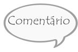 """Desenho de uma balão escrito """"Comentário"""""""