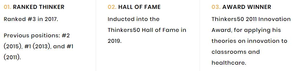Prêmios de Clayton Christensen pela Thinkers50