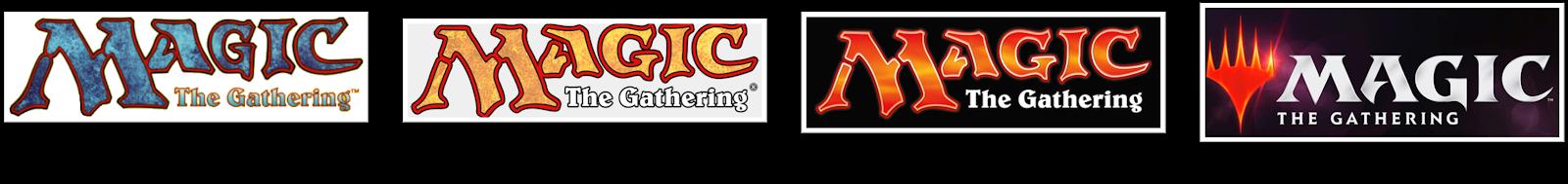 evolução do logotipo do magic the gathering
