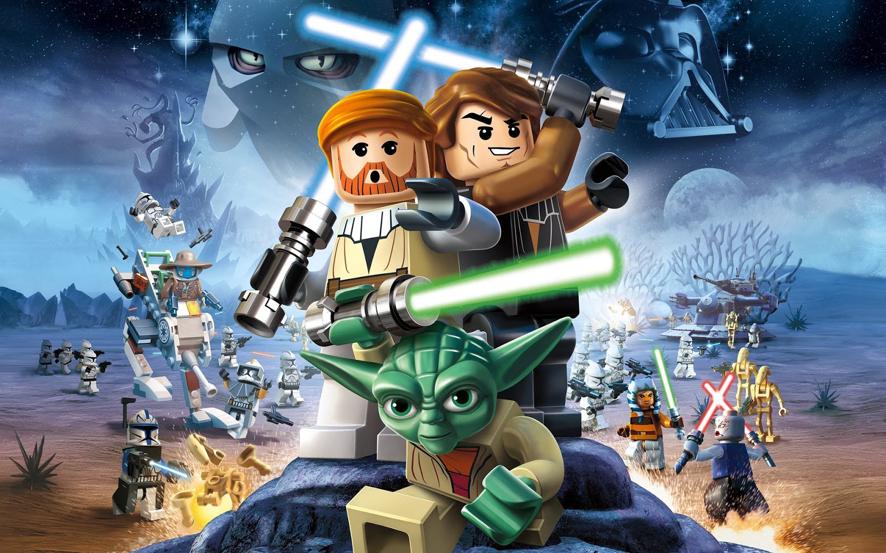 imagem em formato de lego do star wars