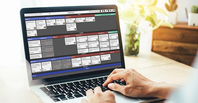 Taskboard do Sinccera, o Project Portfolio Management (PPM) da Objective